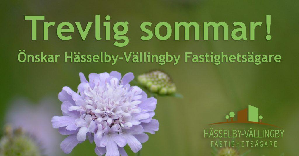 Trevlig sommar önskar Hässelby-Vällingby Fastighetsägare